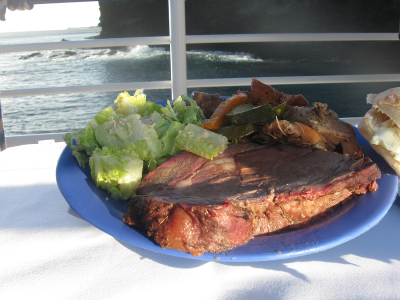 Athena's Quicksilver Dinner Cruise Prime Rib Dinner Photo