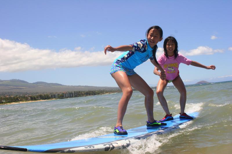 surfing lessons kihei wailea