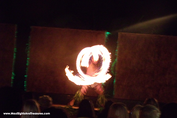 Sheraton Kaanapali Luau; discounted tickets, fire knife dancer