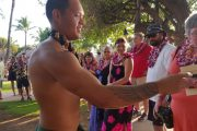 Old Lahaina Luau coconut demonstration