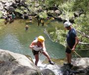 Rappelling down Waterfalls Garden of Eden, Maui Hawaii
