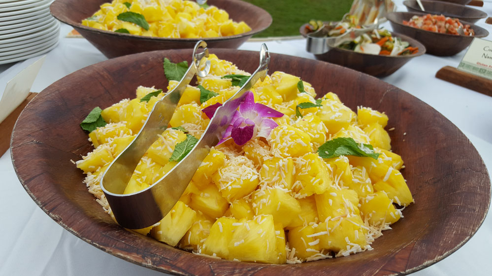 fresh pineapple Grand Wailea Luau Honuaula
