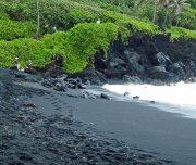 Waianapanapa State Park Black Sand Beach