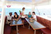 Hula Girl Snorkel Tour boat cabin